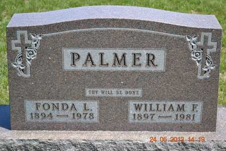 PALMER, WILLIAM F. - Branch County, Michigan | WILLIAM F. PALMER - Michigan Gravestone Photos