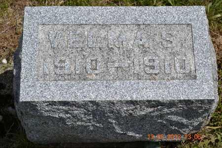 PARNHAM, VELMA S. - Branch County, Michigan | VELMA S. PARNHAM - Michigan Gravestone Photos