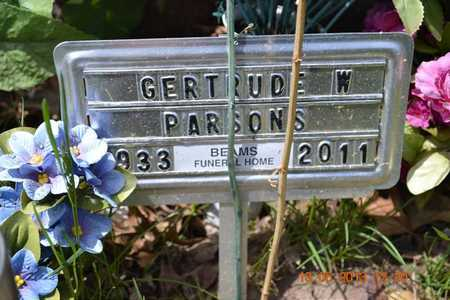 PARSONS, GERTRUDE W.(FH MARKER) - Branch County, Michigan | GERTRUDE W.(FH MARKER) PARSONS - Michigan Gravestone Photos