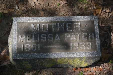 PATCH, MELISSA - Branch County, Michigan | MELISSA PATCH - Michigan Gravestone Photos