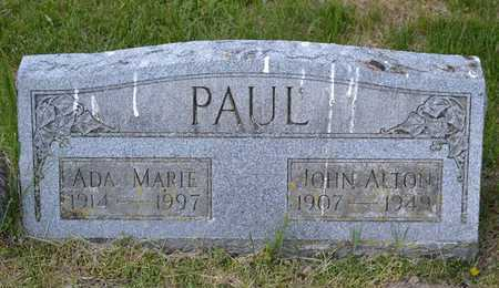 PAUL, JOHN ALTON - Branch County, Michigan | JOHN ALTON PAUL - Michigan Gravestone Photos
