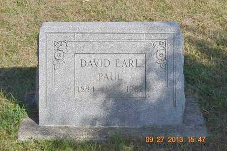 PAUL, DAVID EARL - Branch County, Michigan | DAVID EARL PAUL - Michigan Gravestone Photos