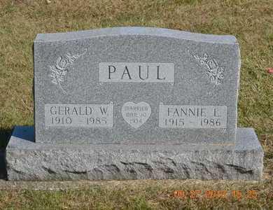 PAUL, GERALD W. - Branch County, Michigan | GERALD W. PAUL - Michigan Gravestone Photos