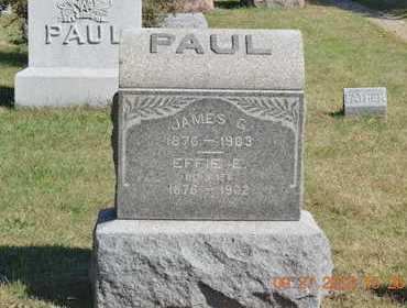 PAUL, EFFIE E. - Branch County, Michigan | EFFIE E. PAUL - Michigan Gravestone Photos