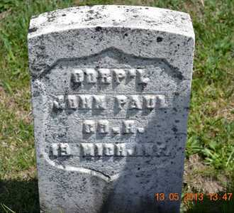 PAUL, JOHN(#2) - Branch County, Michigan | JOHN(#2) PAUL - Michigan Gravestone Photos
