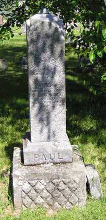 PAUL, JAMES - Branch County, Michigan | JAMES PAUL - Michigan Gravestone Photos