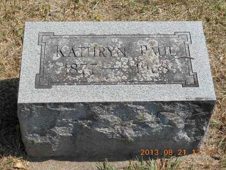 PAUL, KATHRYN - Branch County, Michigan | KATHRYN PAUL - Michigan Gravestone Photos