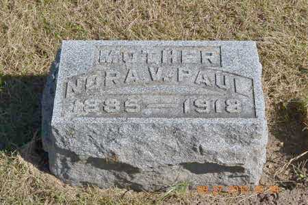 PAUL, NORA V. - Branch County, Michigan | NORA V. PAUL - Michigan Gravestone Photos