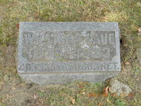 PAUL, WILLIAM T. - Branch County, Michigan | WILLIAM T. PAUL - Michigan Gravestone Photos
