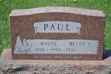 PAUL, BETTY I. - Branch County, Michigan | BETTY I. PAUL - Michigan Gravestone Photos