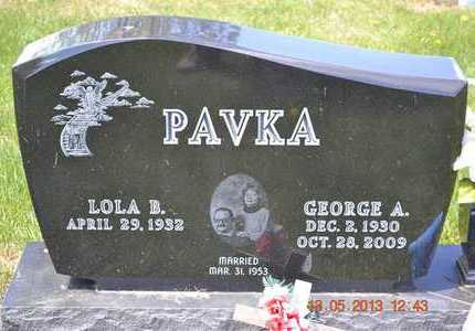 PAVKA, GEORGE A. - Branch County, Michigan | GEORGE A. PAVKA - Michigan Gravestone Photos