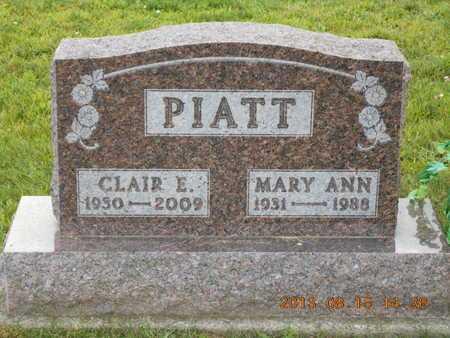 PIATT, CLAIR EDWARD - Branch County, Michigan | CLAIR EDWARD PIATT - Michigan Gravestone Photos