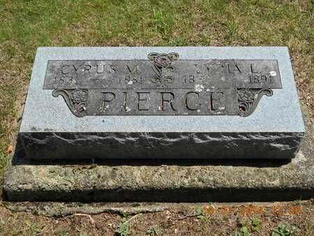 PIERCE, CYRUS M. - Branch County, Michigan | CYRUS M. PIERCE - Michigan Gravestone Photos
