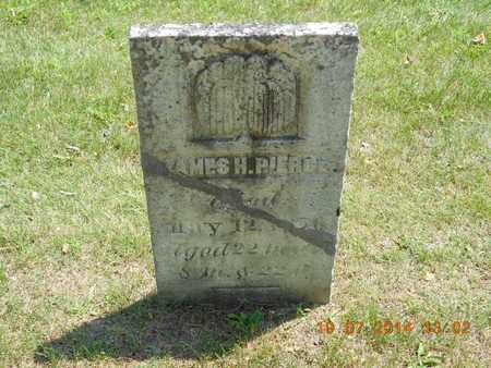 PIERCE, JAMES H. - Branch County, Michigan | JAMES H. PIERCE - Michigan Gravestone Photos