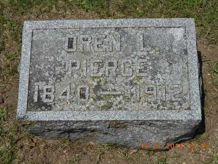 PIERCE, OREN L. - Branch County, Michigan | OREN L. PIERCE - Michigan Gravestone Photos