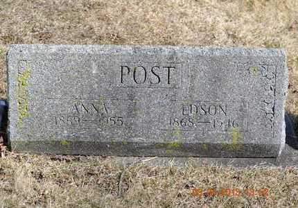POST, ANNA - Branch County, Michigan   ANNA POST - Michigan Gravestone Photos
