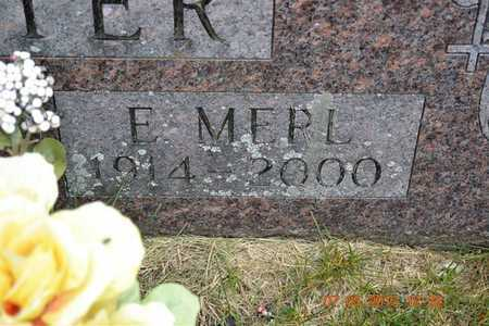 POTTER(CLOSEUP), E. MERL - Branch County, Michigan | E. MERL POTTER(CLOSEUP) - Michigan Gravestone Photos