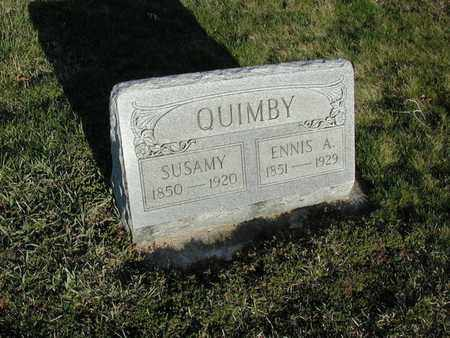 MAGDEN QUIMBY, SUSAMY - Branch County, Michigan | SUSAMY MAGDEN QUIMBY - Michigan Gravestone Photos