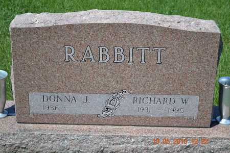 RABBITT, DONNA J. - Branch County, Michigan | DONNA J. RABBITT - Michigan Gravestone Photos