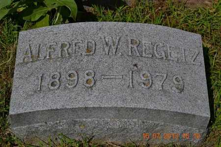 REGETZ, ALFRED - Branch County, Michigan | ALFRED REGETZ - Michigan Gravestone Photos
