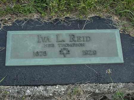 THOMPSON REID, IVA - Branch County, Michigan | IVA THOMPSON REID - Michigan Gravestone Photos