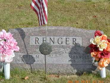 RENGER, MAXWELL F. - Branch County, Michigan | MAXWELL F. RENGER - Michigan Gravestone Photos