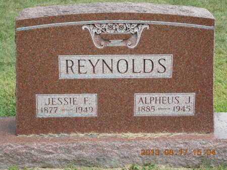 REYNOLDS, JESSIE F. - Branch County, Michigan | JESSIE F. REYNOLDS - Michigan Gravestone Photos