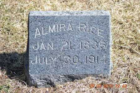 RICE, ALMIRA - Branch County, Michigan | ALMIRA RICE - Michigan Gravestone Photos