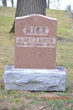 RICE, ALMA C. - Branch County, Michigan | ALMA C. RICE - Michigan Gravestone Photos