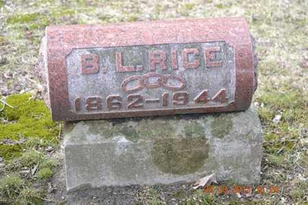 RICE, B.L. - Branch County, Michigan | B.L. RICE - Michigan Gravestone Photos