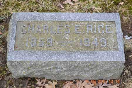 RICE, CHARLES E. - Branch County, Michigan | CHARLES E. RICE - Michigan Gravestone Photos