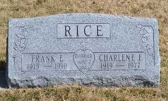 RICE, CHARLENE F. - Branch County, Michigan | CHARLENE F. RICE - Michigan Gravestone Photos
