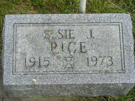 RICE, ELSIE J. - Branch County, Michigan   ELSIE J. RICE - Michigan Gravestone Photos
