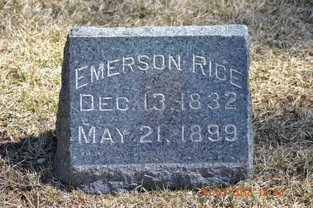 RICE, EMERSON - Branch County, Michigan | EMERSON RICE - Michigan Gravestone Photos
