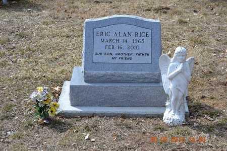 RICE, ERIC ALAN - Branch County, Michigan | ERIC ALAN RICE - Michigan Gravestone Photos