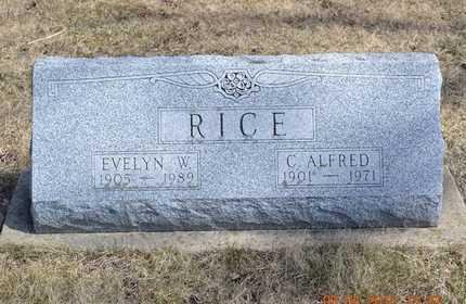 RICE, EVELYN W. - Branch County, Michigan | EVELYN W. RICE - Michigan Gravestone Photos
