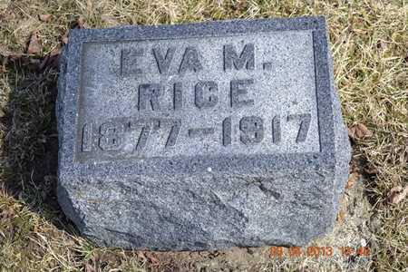 RICE, EVA M. - Branch County, Michigan | EVA M. RICE - Michigan Gravestone Photos