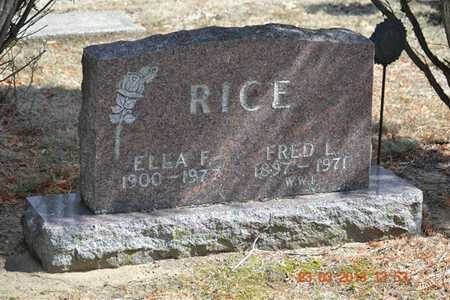 RICE, ELLA F. - Branch County, Michigan | ELLA F. RICE - Michigan Gravestone Photos