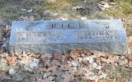 RICE, LEONA - Branch County, Michigan | LEONA RICE - Michigan Gravestone Photos