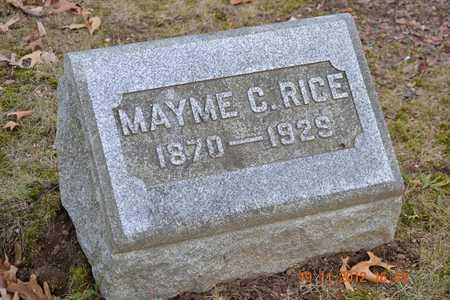 RICE, MAYME C. - Branch County, Michigan | MAYME C. RICE - Michigan Gravestone Photos