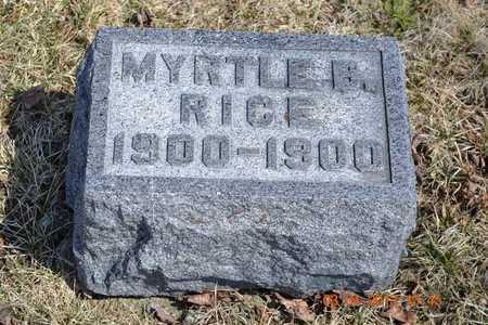 RICE, MYRTLE B. - Branch County, Michigan   MYRTLE B. RICE - Michigan Gravestone Photos