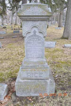 RICE, HARRIET - Branch County, Michigan | HARRIET RICE - Michigan Gravestone Photos