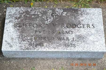 RODGERS, CLIFFORD V. - Branch County, Michigan | CLIFFORD V. RODGERS - Michigan Gravestone Photos