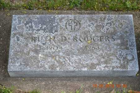 RODGERS, RUTH D. - Branch County, Michigan   RUTH D. RODGERS - Michigan Gravestone Photos