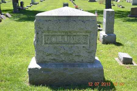 ROLLINGS, FAMILY - Branch County, Michigan | FAMILY ROLLINGS - Michigan Gravestone Photos
