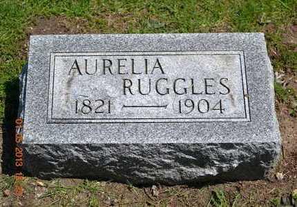 RUGGLES, AURELIA - Branch County, Michigan | AURELIA RUGGLES - Michigan Gravestone Photos