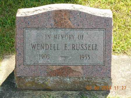 RUSSELL, WENDELL E. - Branch County, Michigan | WENDELL E. RUSSELL - Michigan Gravestone Photos