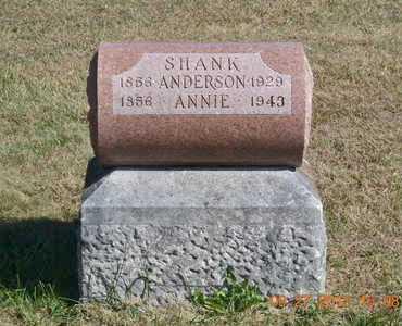 SHANK, ANDERSON - Branch County, Michigan   ANDERSON SHANK - Michigan Gravestone Photos