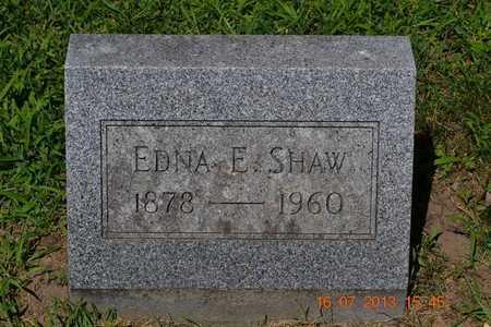 SHAW, EDNA E. - Branch County, Michigan   EDNA E. SHAW - Michigan Gravestone Photos