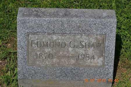 SHAW, EDMUND - Branch County, Michigan   EDMUND SHAW - Michigan Gravestone Photos